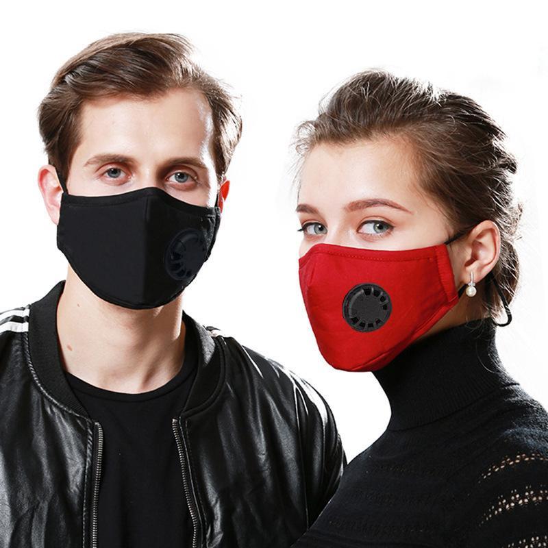 Gesichtsmaske Anti-Staub Earloop mit Atemventil Einstellbare Wiederverwendbare Mundmasken Weiches Breathable Anti-Staub-Schutzmasken