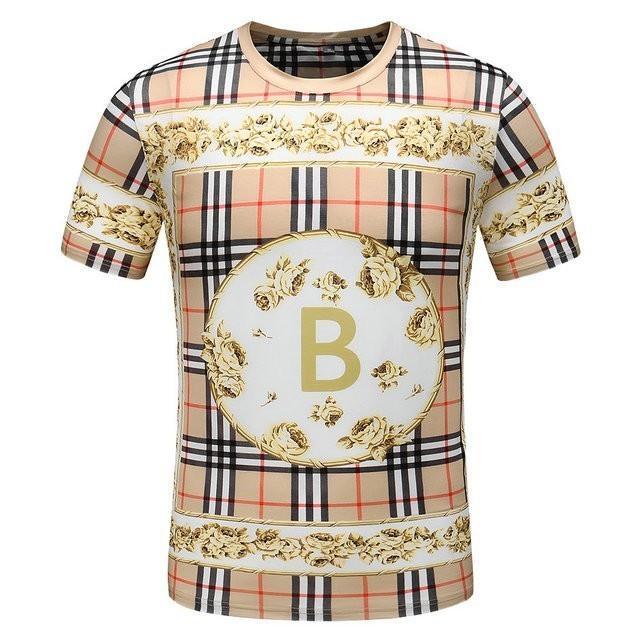 2019 Summer Man Short Sleeve T designer luxuryT-shirt T-shirts Half Trend Male Style Handsome