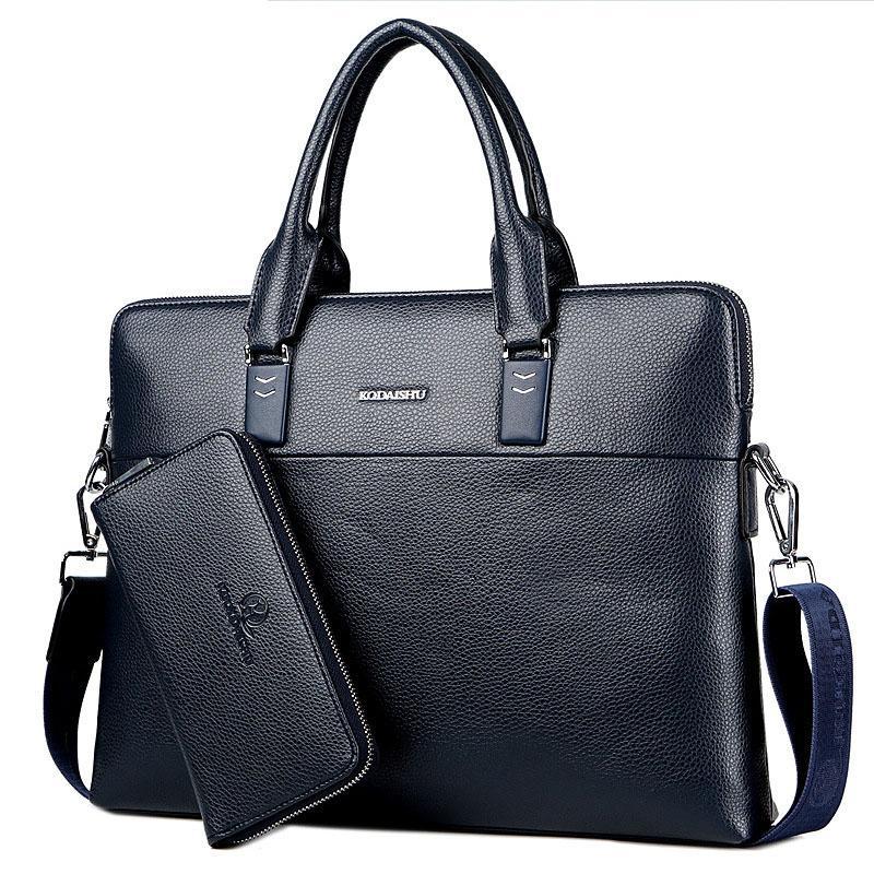 Beraghini Business Maletín Messenger Bag Bolsos Bolsos Hombro PU Laptop Hombres Bolsos Masculino Oficina de Cuero Rxewq