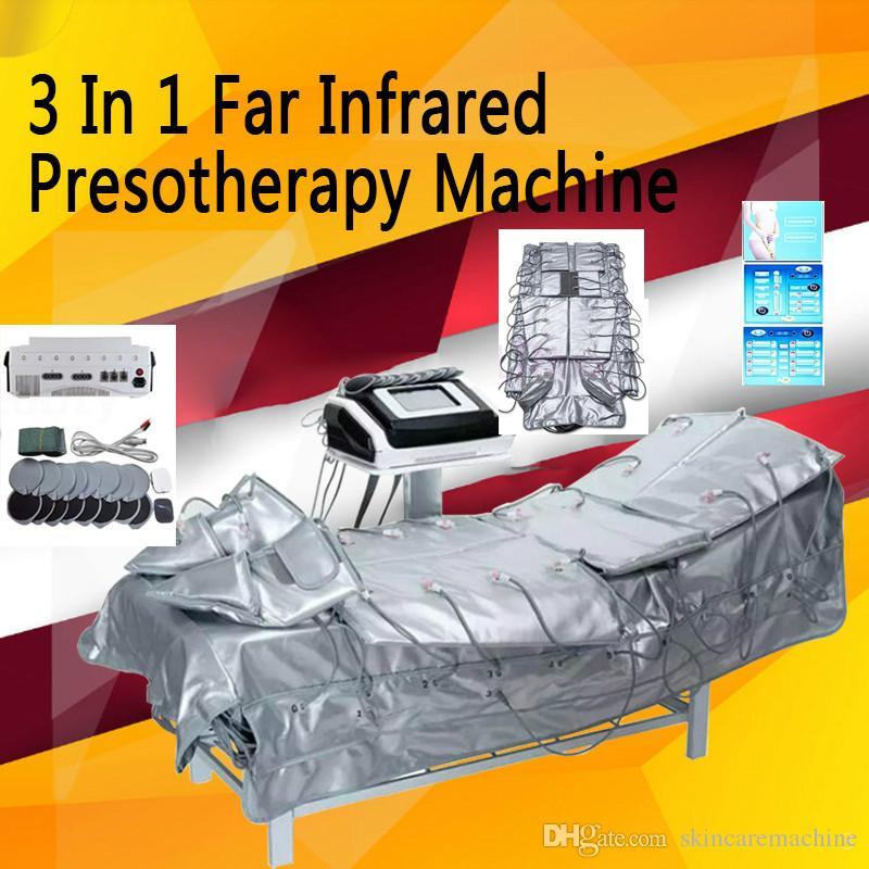 3 in 1 Uzak ışık EMS Yeni kaybettin ağırlık Pressotherapy cihaz lenf drenaj dokunmatik ekran güzellik makinesi kızılötesi