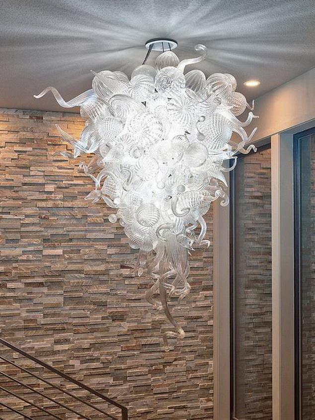 Techo de interior llevó la lámpara marroquí iluminación de la decoración del restaurante 100% soplado borosilicato Chihully estilo Murano luz pendiente