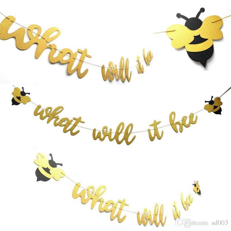 Bachelorette Honeybee Birthday Party Flagge Ziehen Filz Vlies Weihnachten Valentinstag Dekoration Banner Flagge Freies Verschiffen 9 1hn A