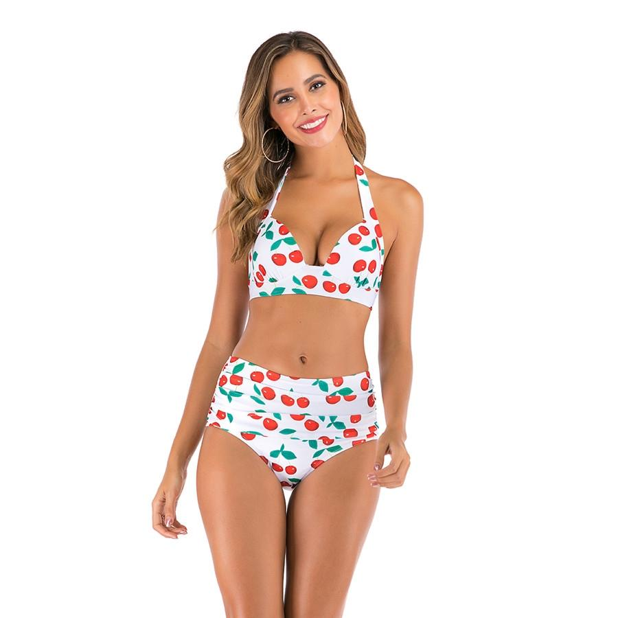 Swim Suit Women Red Balck Gold Eye-Catching Shiny Bikini Micro Halter Top + G-String Set Swimsuit Free Size Girls Swimwear F177#888