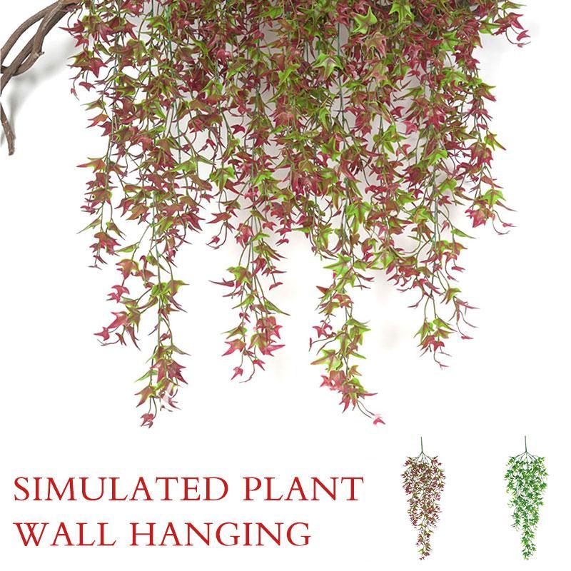 Batata doce Folhas Simulado Vine Artificial Planta artificial InsRattan 78 centímetros verde / vermelho da foto Props Partido Sala festiva