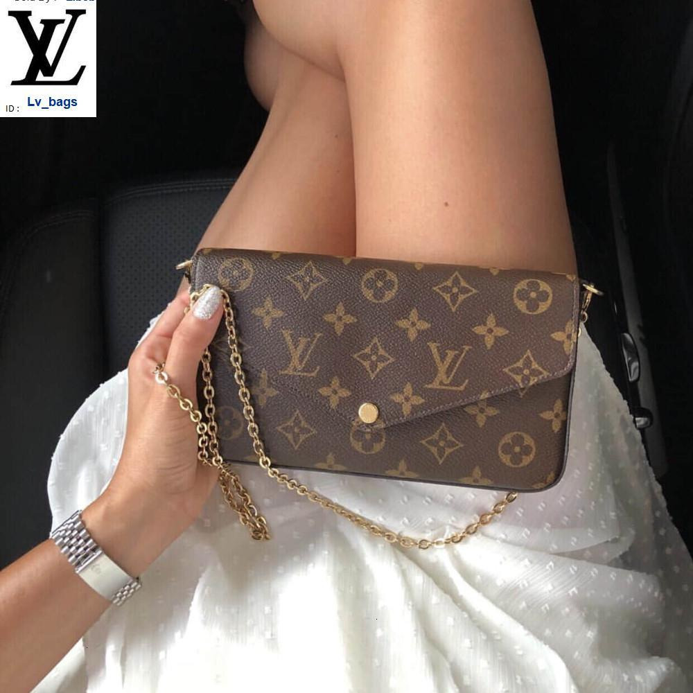 Yangzizhi New Three-in-one Chain Old Flower Bag Handbags Bags Top Handles Shoulder Bags Totes Evening Cross Body Bag