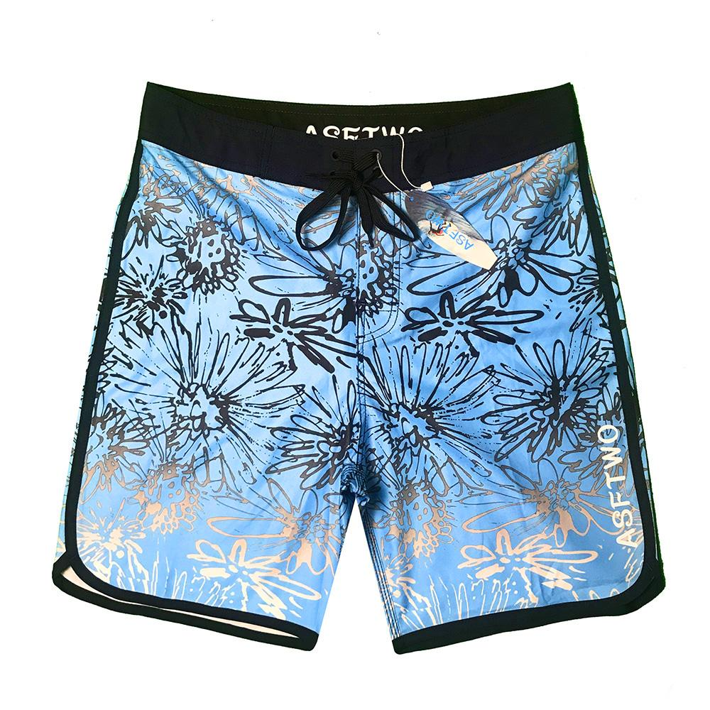 Tessuto di seta impermeabile Colorvalue Boardshorts Swim Trunks nuovi uomini asciutto rapido a righe Beach Shorts ghiaccio maschile Bandage costume da bagno