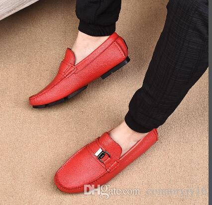 2020 Leather Men Shoes British Vintage Tassel Wedding Dress Oxfords Shoes Fashion Men's Casual Slip on Loafers