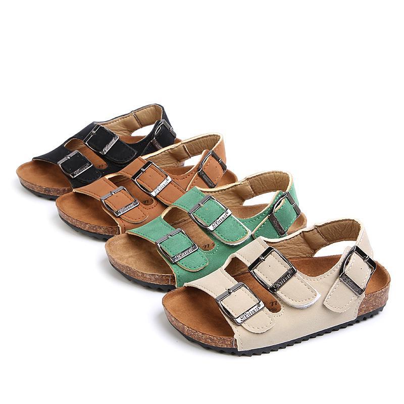 Enfants De Liège Pantoufles De Mode D'été Garçons Sandales Enfants Chaussures Slip Sur Enfant Filles Sandales Pour Mère Et Enfants Taille 22-39 MX190726