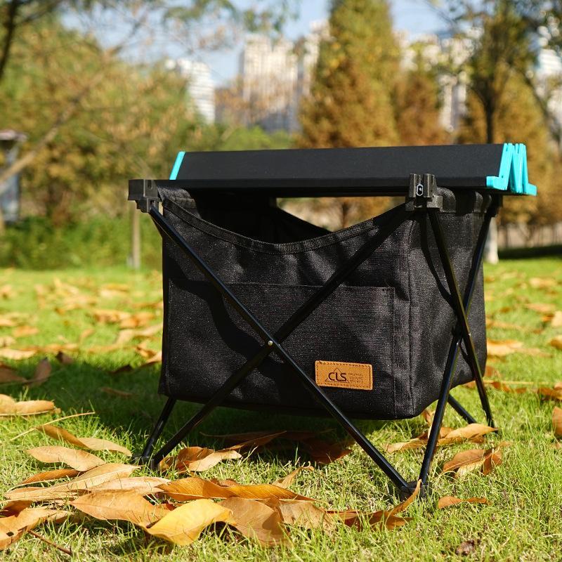 NEU Outdoor Folding Campingtisch Picknick-Aluminiumlegierung bewegliche wasserdichte Aufbewahrungstasche hängende Tasche Korb Mesa plegable bbq