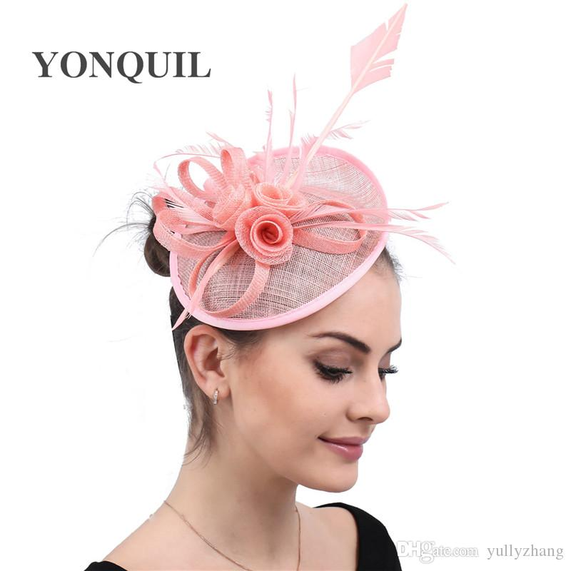 HUPLUE Feather Prom Cocktail Tea Party Headpiece Feather Headband Fascinator Hats for Women