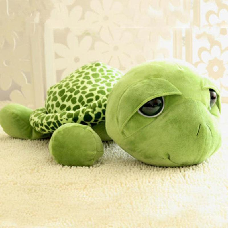 20cm 30cm 40cm 60cm Funny Big Eyes Green Tortoise Turtle Animal Baby Stuffed Plush Toy Gift Unisex