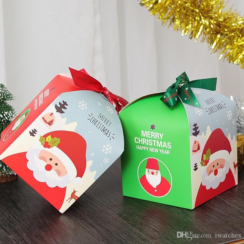 DIY Navidad caja de regalo una caja de ping vacaciones dulces de chocolate de la caja de papel de regalo exquisita envasado de fruta fuentes de la Navidad el envío libre
