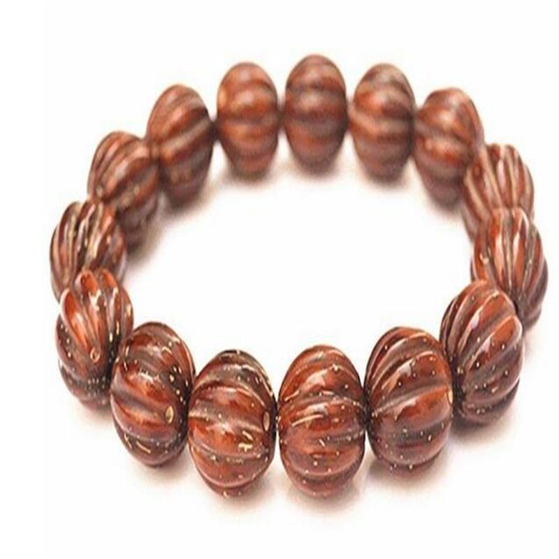 vieux matériel JoursNeige Rat naturelles Bracelets Bodhi Perles citrouille Sculpté