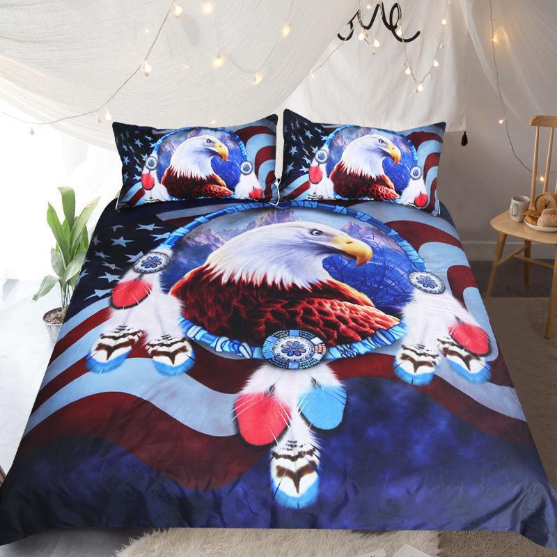 3D águia de design da cama tartaruga conjunto rainha king size impressão reativa de banda desenhada boa solidez projeta tigre leopardo linon gato seatacion