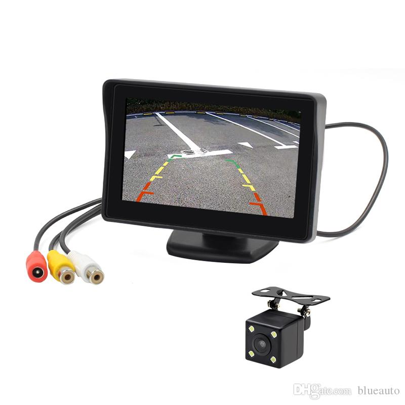 4.3 Inch Car TFT LCD Monitor with 480*280 Rear View Backup Camera Monitor Screen Two way video input V1 V2