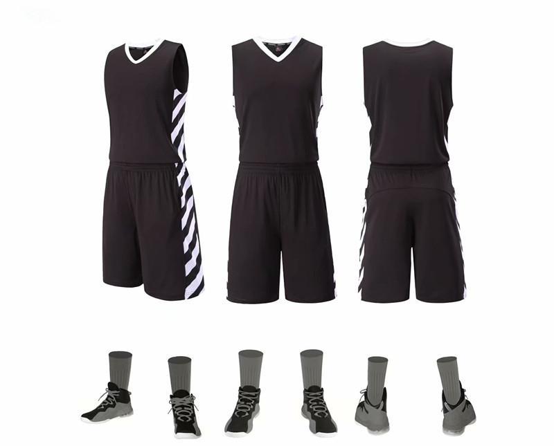 Maciza y constante transpirable Baketball bricolaje sin mangas a rayas de impresión para adultos jerseys del baloncesto camisas pantalones cortos Camiseta Baloncesto Boxeo Batas