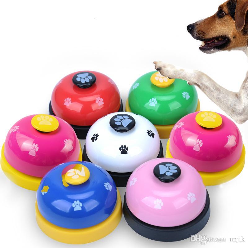 Pet Toy Training namens Dinner Kleine Glocke Fußabdruck Ring Hundespielzeug Für Teddy Puppy Pet Call Und Kommunikationsgerät Pet Interaktive Spielzeug