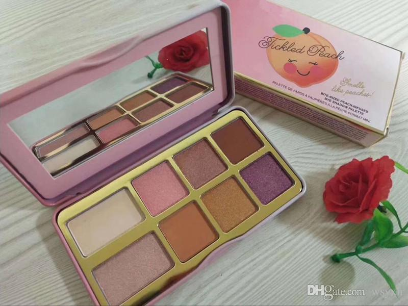 Bolinho de Açúcar Cosmético Marca ou Pêssego Cravado Paleta de Maquiagem Mini Sombra de Férias Chirstmas paleta de sombras 8color