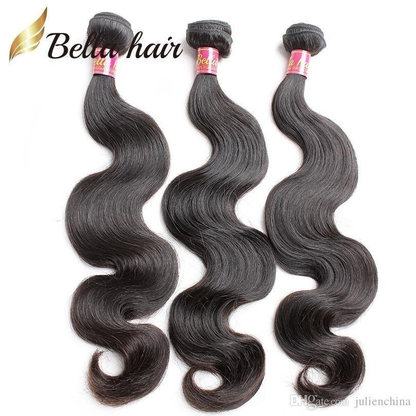 Mode 3st / parti 100% kroppsvåg peruansk hårväv 10 ~ 24 tums naturliga färgförlängningar