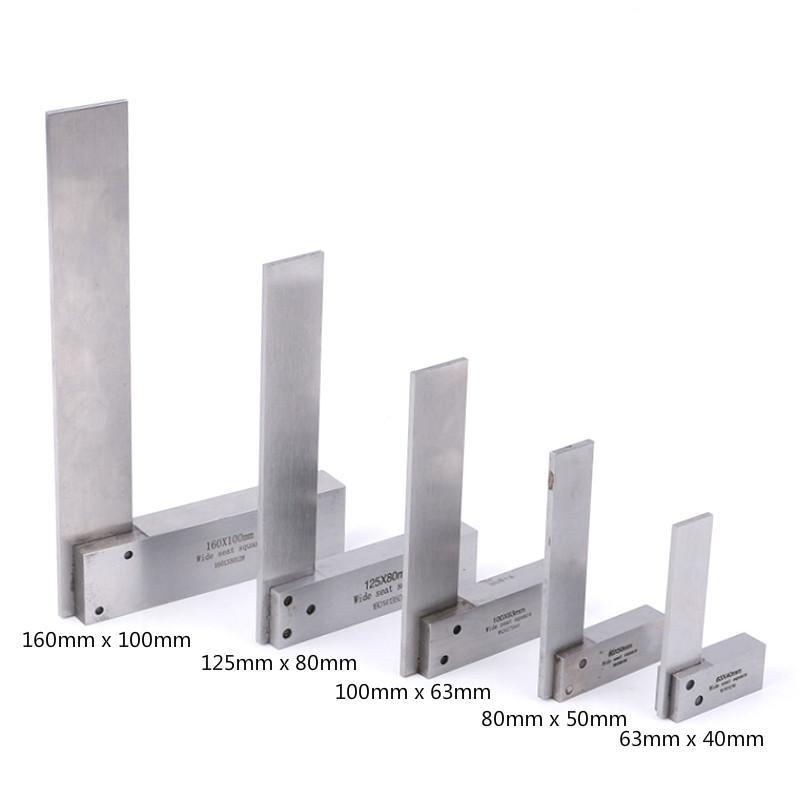 1pc Règle Machiniste Carré Rulers 90 degrés à angle droit ingénieur de précision au sol en acier trempé Angle Règle des outils de mesure