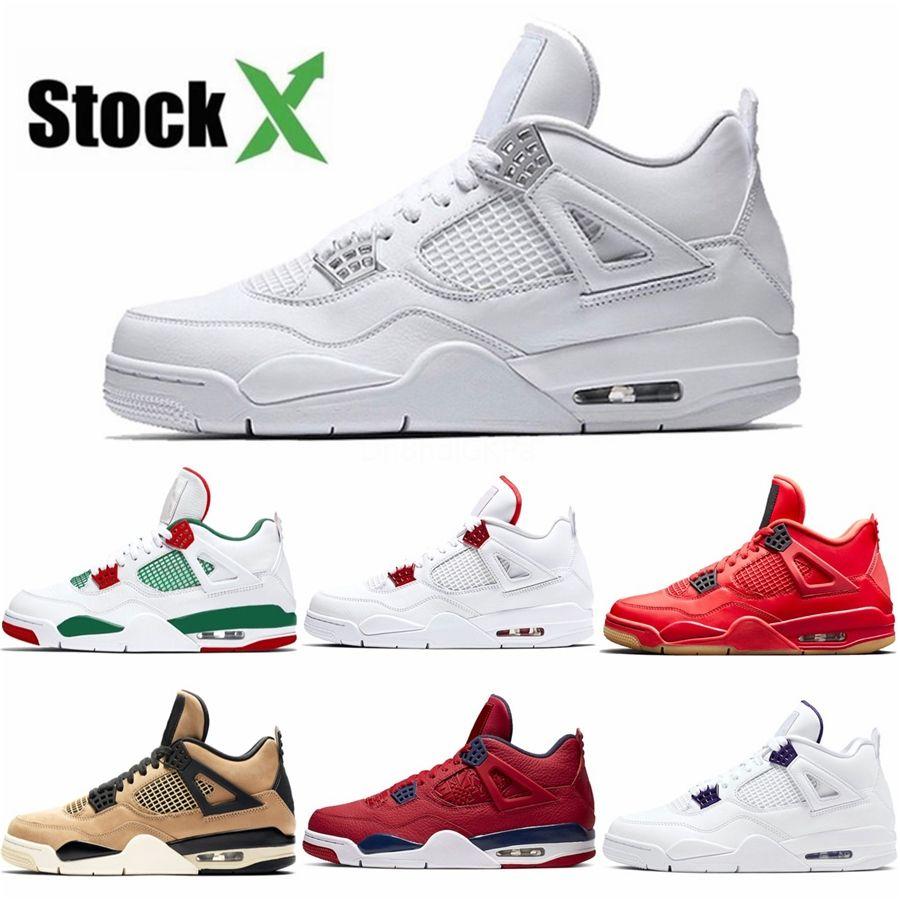 Мужчины Баскетбол обувь 4 Чистых деньги дешевой обуви Новых Mens 4S спортивного Running кроссовки свободного падение Доставка Дисконтная цена с Box # 963