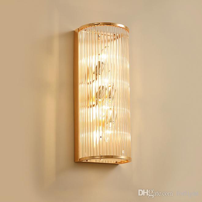Yeni tasarım Avrupa Modern kristal duvar duvar aydınlatma armatürü altın duvar başucu sundurma koridor için led aplik ışık ışıklar monte lambalar