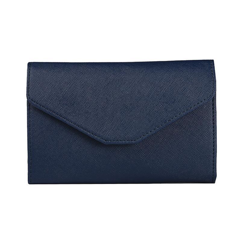 PU 6 Farben Einfachheit Multifunktions-Reise Paßbeutel Dokumentenmappe Handtasche