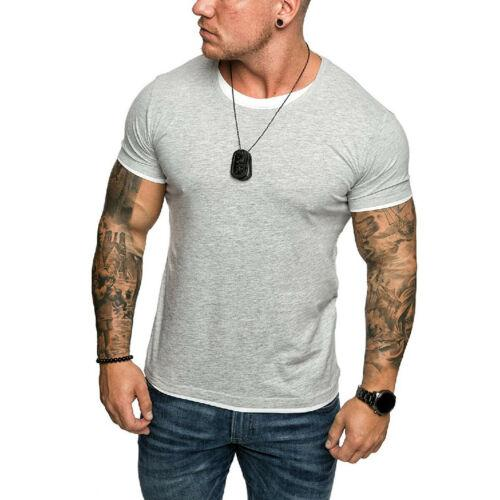 Hot Men Slim Fit V Neck Long Sleeve Muscle Tee T-shirt Casual Tops Blouse M-2XL