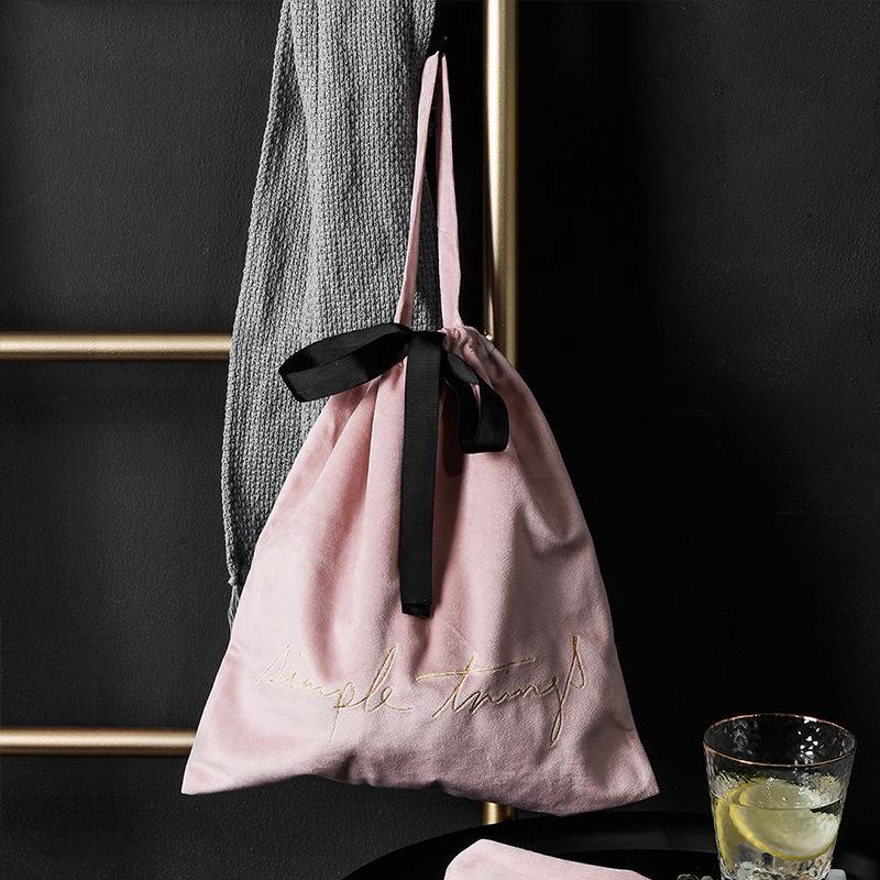 Nordic Storage Finitura Piccola cablaggio Borsa da viaggio Borsa da viaggio Borsa da disegno Abbigliamento Pocket Biancheria intima Stoccaggio Velvet Ljoue