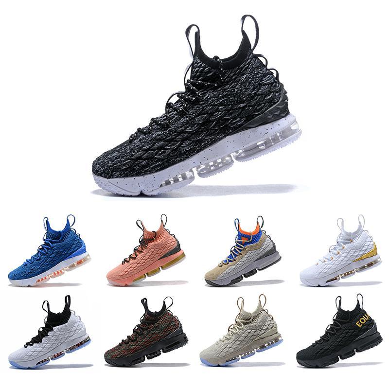2019 alta calidad de lujo más nuevos cenizas fantasma lebron 15 zapatos de baloncesto zapatillas de deporte de la llegada de 15s deportes para hombre de los zapatos corrientes de diseño al aire libre