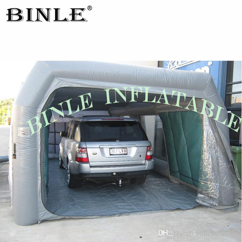 الخفيفة نفخ رذاذ الطلاء كشك خيمة غرفة محطة نفخ المنقولة لصيانة السيارات