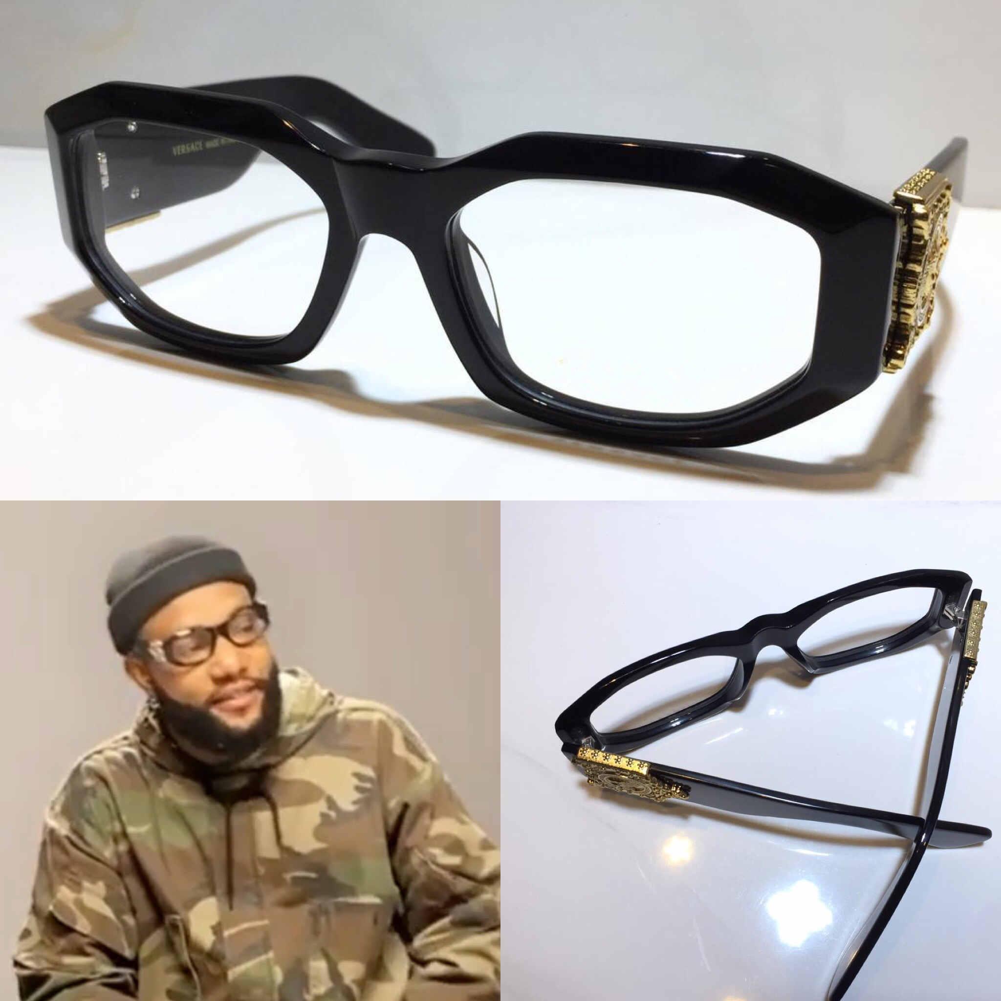 neue 2179 optische Gläser für Männer Designer Fashion Square Frame Klarglas Beliebte Sommer-Art-Brille Top-Qualität mit Fall 2179S