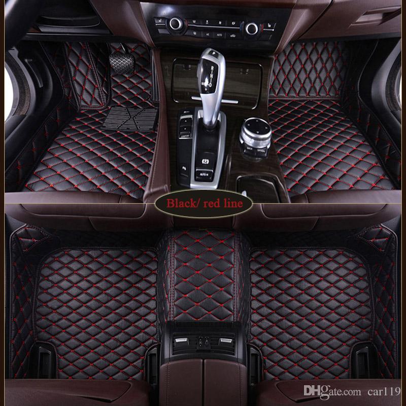 Özel Fit Araba Paspaslar Için Audi A3 A5 Sportback A1 A3 A4 A6 A7 A8 A6L S3 5 6 7 8 Avant Q3 Q5 Q7 TT Otomobil Parçaları Halı Mat