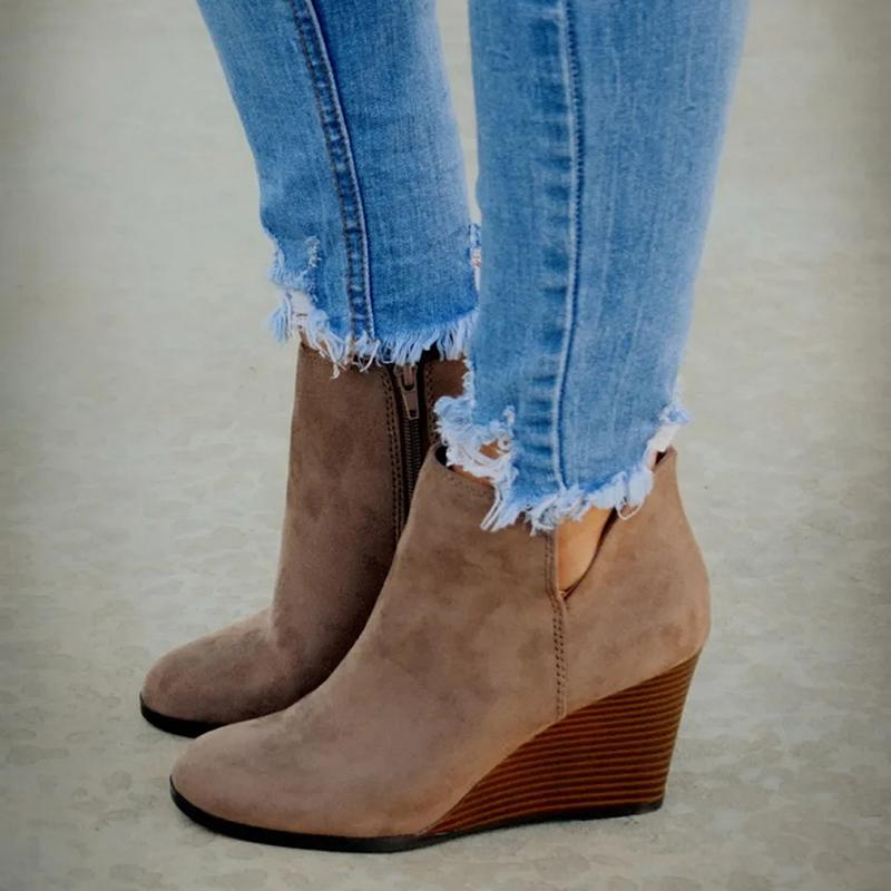 Women Boots Women Ankle Boots Wedges