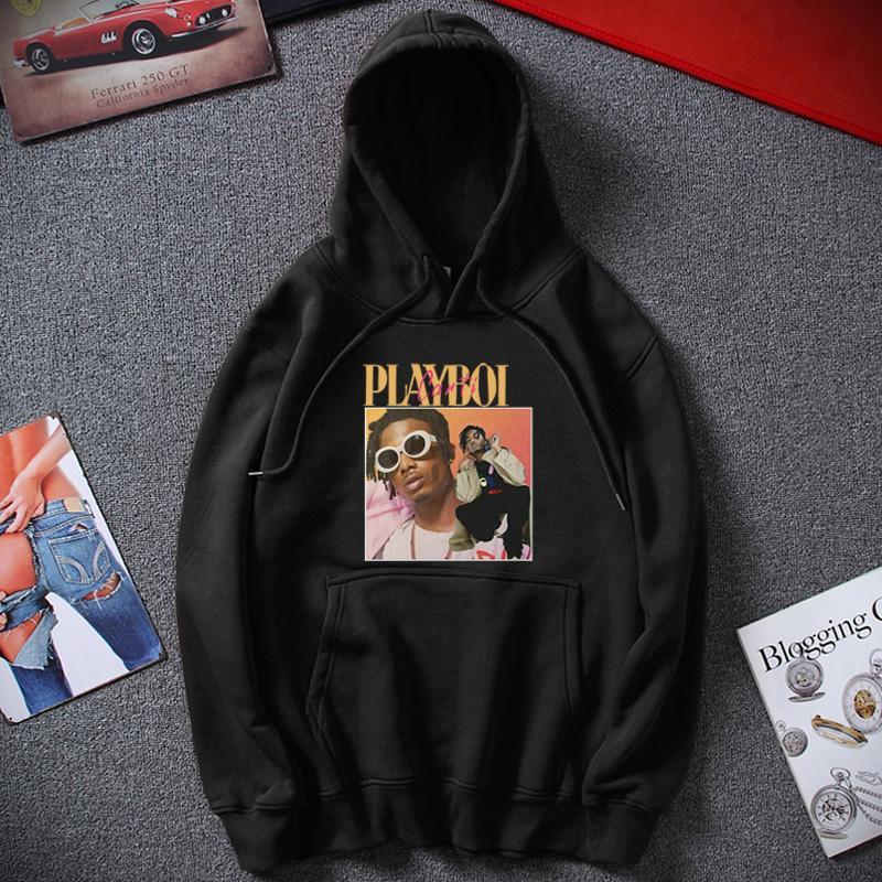 Nuevo Hombre sudaderas con capucha playboi Carti 90 unisex de la vendimia con capucha fresca de los hombres de Hip Hop de Calle Arriba algodón de abrigo sudaderas
