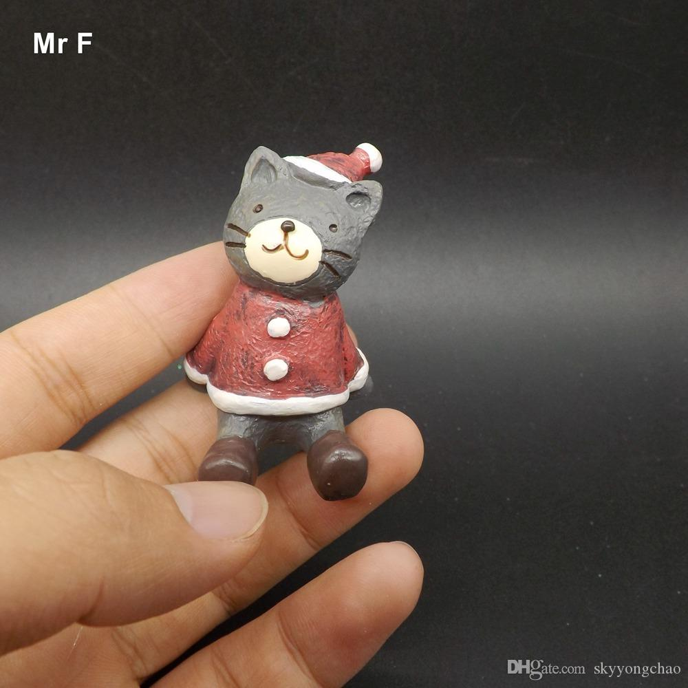 Exquisite Diy Accessory Christmas Party Garden Gift Cute Resin Crafts Decorations Miniature Cat Mini Model Toy Gift