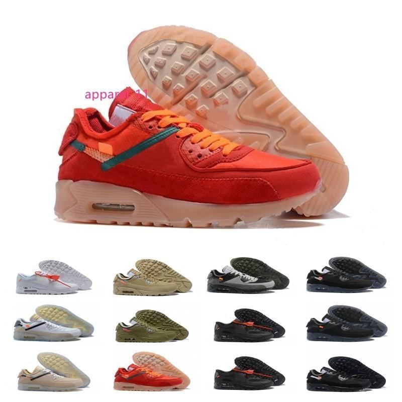 90 delle donne degli uomini Scarpe da corsa Air Virgilio Designer World cup triple bianco nero rosso Sneakers 90s formatori Chaussures Sport zapatos