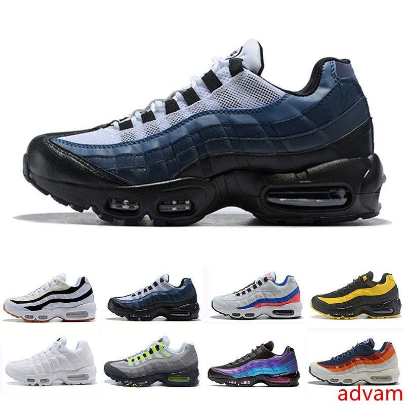 2019 Mens clássico Running Shoes O que O tamanho do vermelho dos homens OG Grape Neon TT Preto Trainers Triplo Branco Preto Sneakers Sports 40-45
