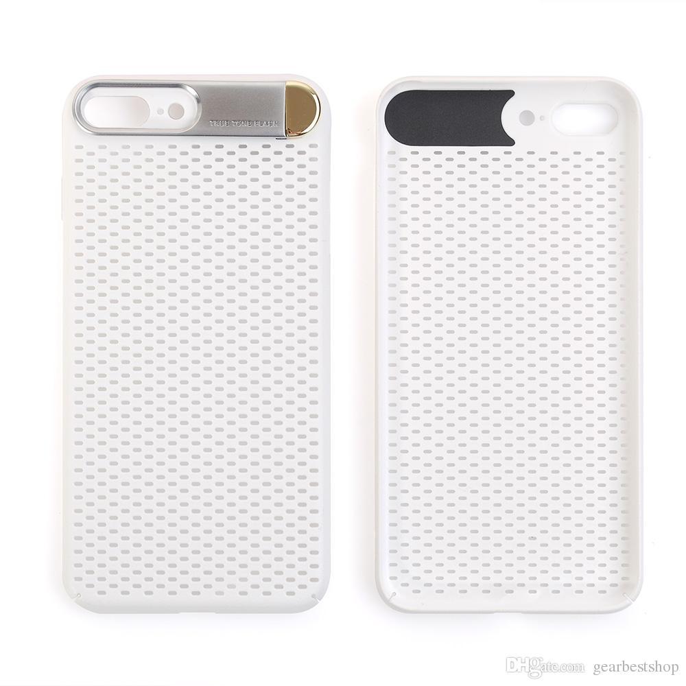 Capa de telefone respirável com suporte para iPhone X