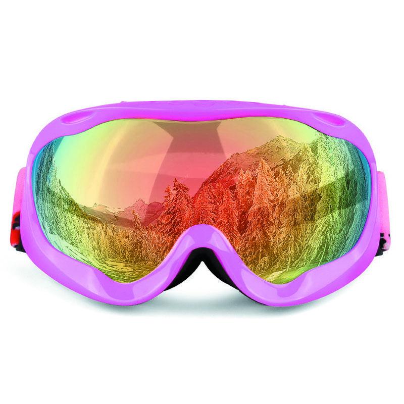 Las capas de nieve al por mayor gafas de snowboard de doble cristal anti-vaho máscara grande Gafas de esquí Gafas Hombres Mujeres Obaolay invierno lente capas dobles