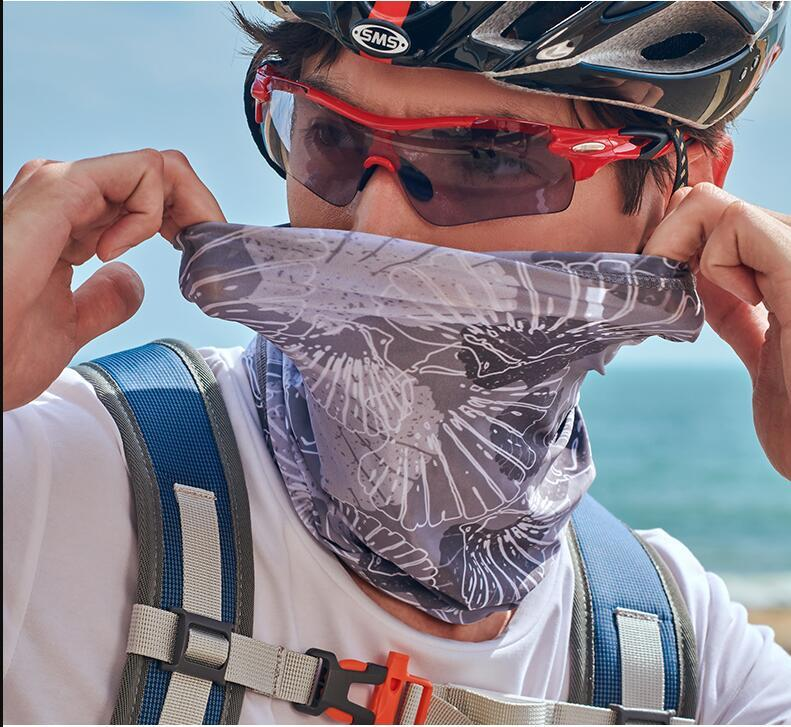US Stock !Bandanas Scarves Multifunctional Outdoor Cycling Masks Scarf Magic turban Sunscreen Hair band Riding Cap Multi Styles FY7041
