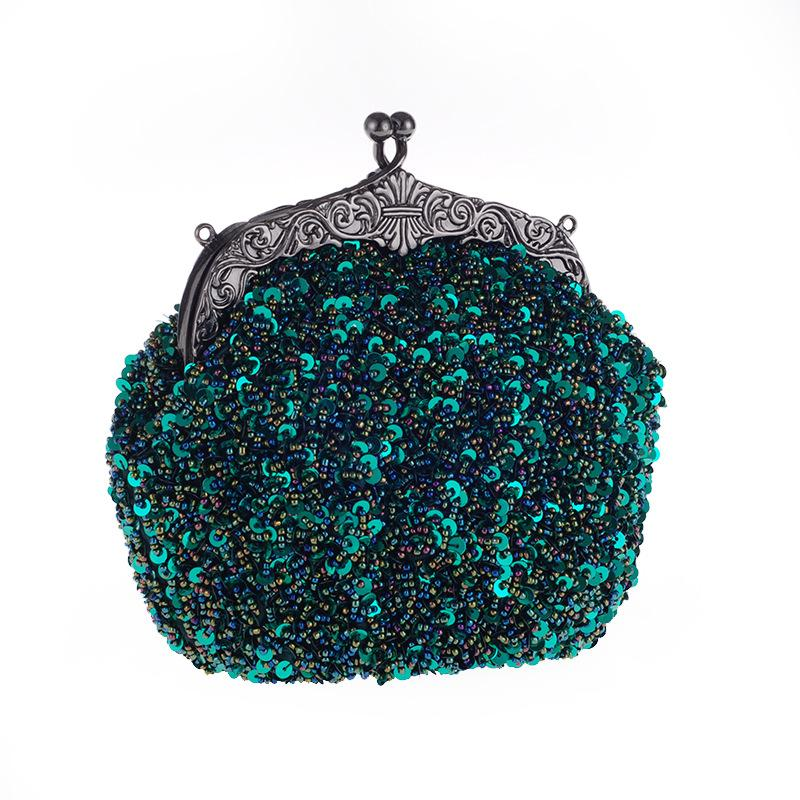Vintage Style Evening Bag Sequined Handmade Beaded Embroidered Party Handbag Clutch Purse Totes Crossbody Women Messenger Bags