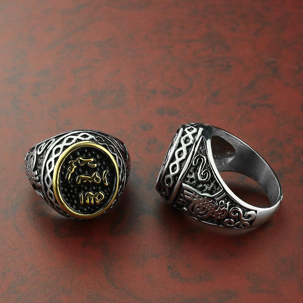 2020 neue E-Commerce-heiße verkaufende kreative europäische und amerikanische Titan-Edelstahl-Männer und Frauen Paar Ring Hand Zubehör ein Generat