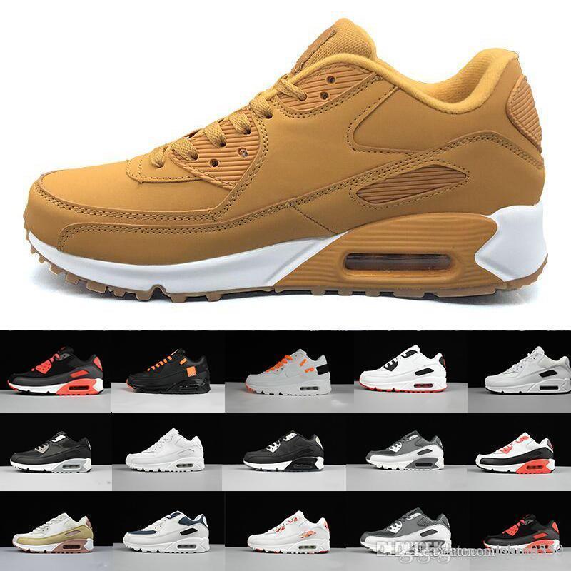 2017 Yüksek Kalite rahat ayakkabılar Yastık Alr 90 kpu Mens Classic 90 gündelik ayakkabı Eğitmenler Sneakers Man Walking Spor tenis Ayakkabı