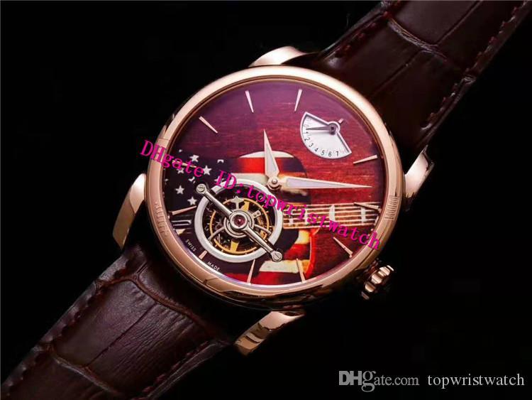 JB Factory PFH251 роскошные мужские часы настоящий турбийон ручной завод Механические наручные часы корпус из розового золота 18 карат сапфировый дисплей запаса хода