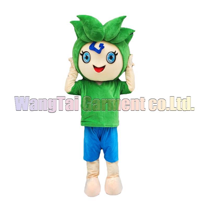 Hohe Qualität Grünen Elf-Maskottchen-Kostüm Karneval Zweig Parade Qualität Clowns Halloween-Party-Aktivität Fancy-Ausstattung Verschiffen frei