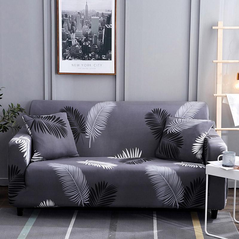 58 Sofá Cover Fundas estiramiento elástico apretado Wrap con todo incluido sofá cama cubierta de toallas Muebles protector 1/2/3/4 plazas