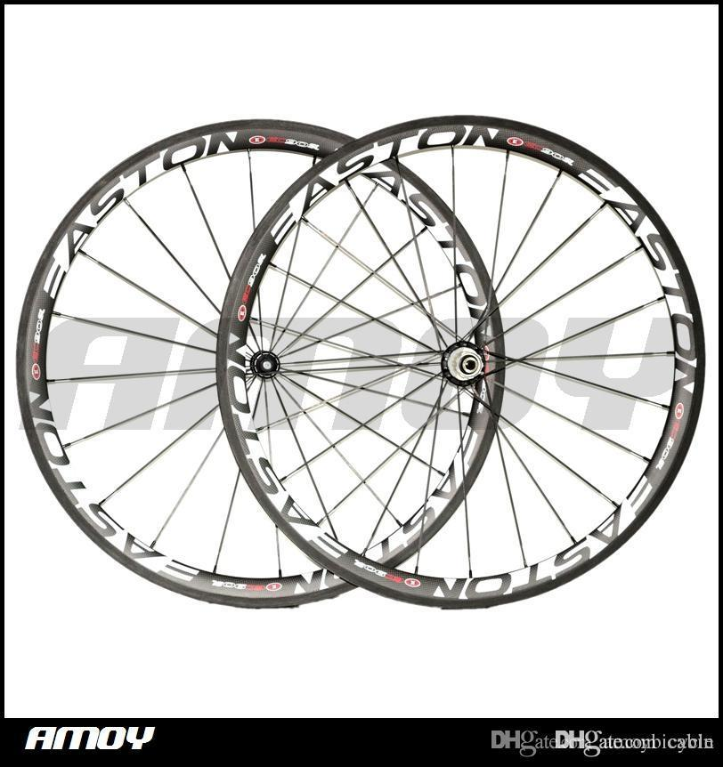Easton 38mm carbon wheels Made in China carbon alloy wheels glossy matte bike wheelset clincher Free shipping