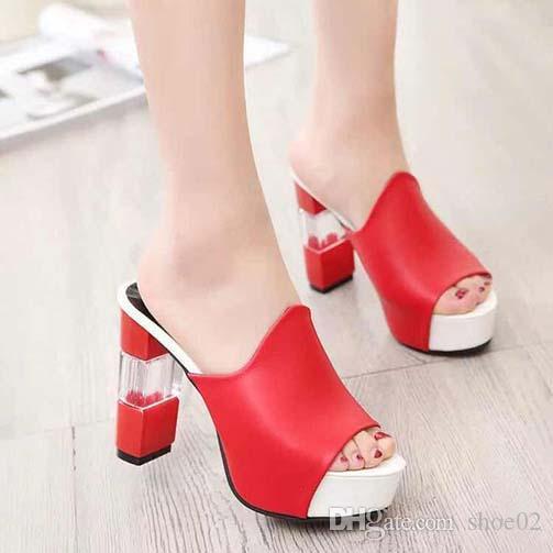 talloni delle donne dei sandali di alta qualità sandali dei pistoni Huaraches Flip-Flops scarpa Mocassini per il pistone shoe02 PL2387
