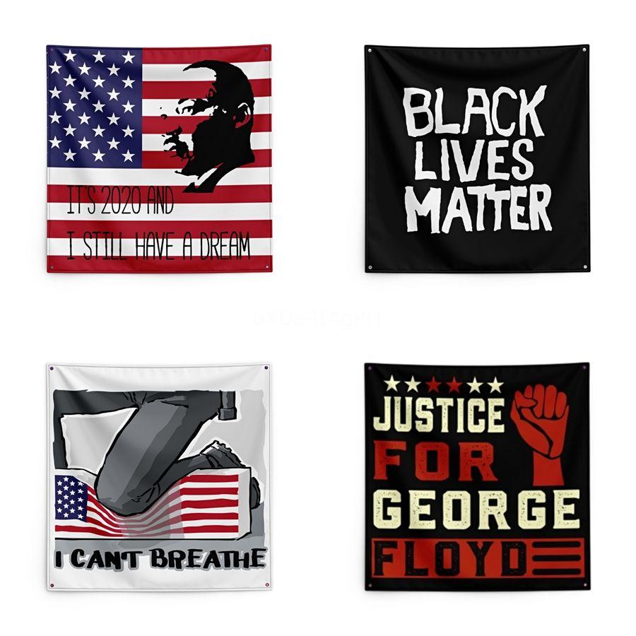 George Floyd Baskı Goblen Siyah Hayatlar Matter 150 * 150 cm Goblen # QA74544 Kavgası